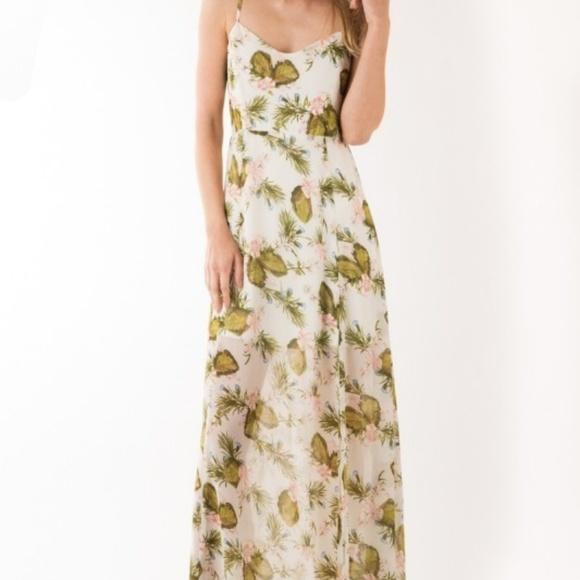 9228d999d98e IJOAH Dresses | Ivory Floral Print Maxi Dress | Poshmark